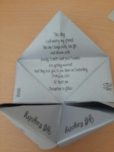 Cootie Catcher Contents